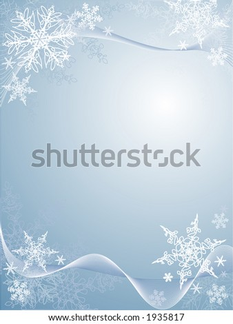 winter snowflake background - stock vector