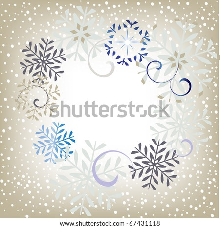 winter snowframe - stock vector