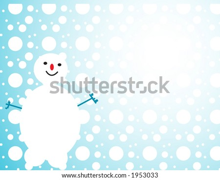 winter snowman design - stock vector