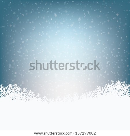 winter snowy background - stock vector