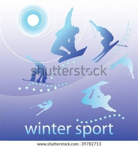 Winter sport - stock vector