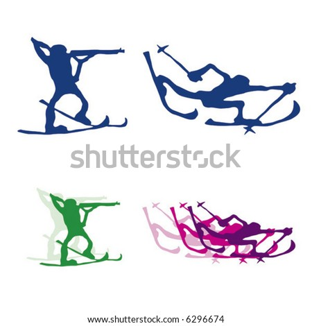 Winter sport. See the entire series. Simple vector. - stock vector