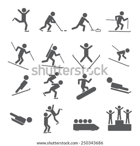 Winter Sports/Games Icons
