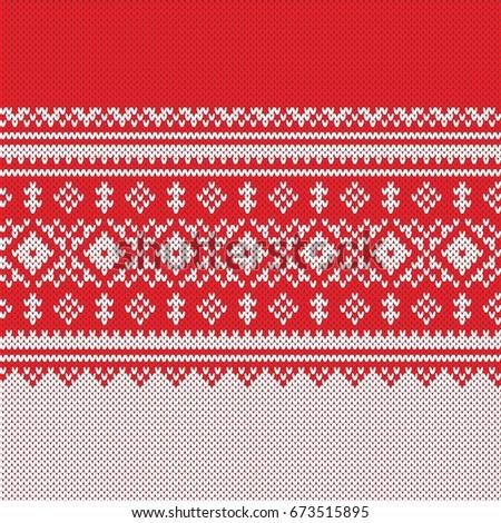 Winter Sweater Design Fairisle Seamless Knitting Stock Vector ...
