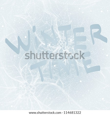 Winter time / Frost on the window like Christmas flower Poinsettia - stock vector