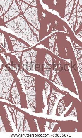 Winter trees - stock vector