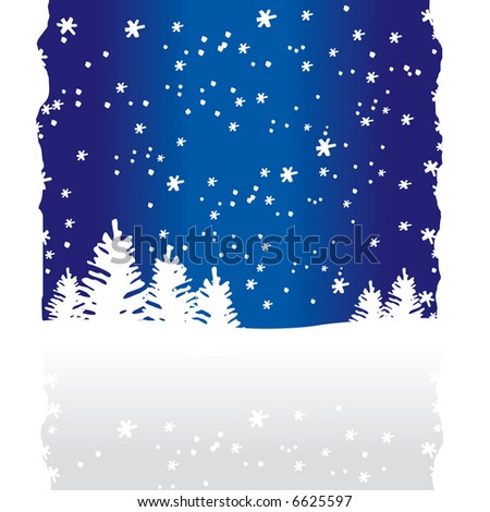 Winter Trees Background (vector). In the gallery also available XXL jpeg image made from this vector - stock vector