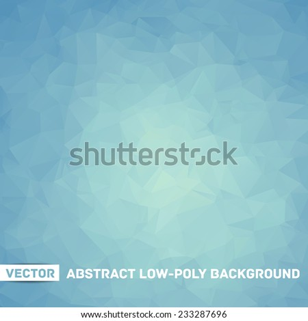 winter vector abstract polygonal blue background - stock vector