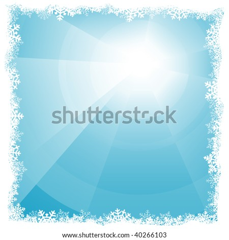 Winter vector background - stock vector
