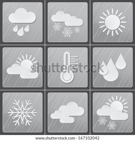 Winter weather icons set
