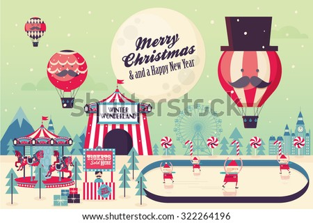 winter wonderland christmas vector/illustration
