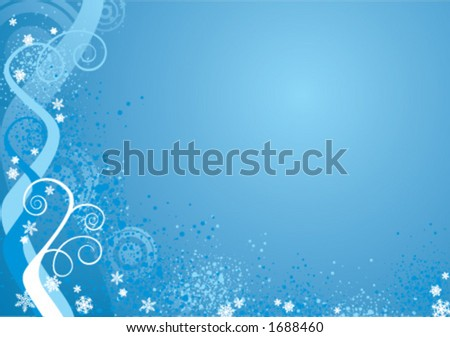 Winter/Xmas background - stock vector