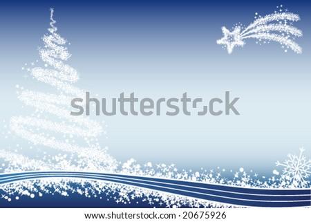 Winter xmas background - stock vector