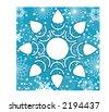 wintertime snowflakes - stock vector