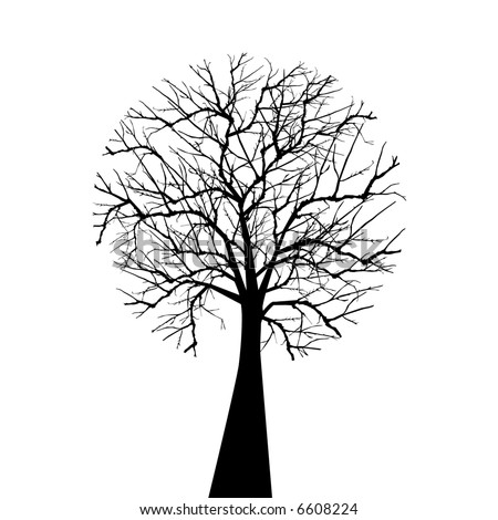 wintertree isolated - stock vector