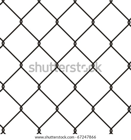 Wire fence - stock vector