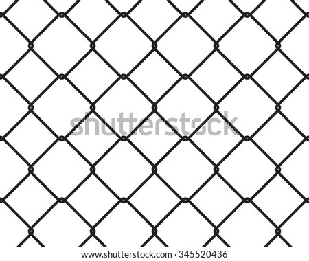 Wire fence seamless texture black silhouette