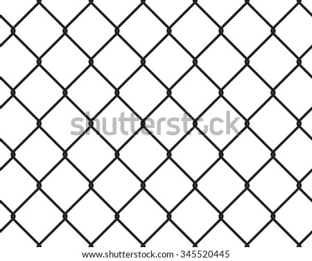 Wire Fence Seamless Texture Black Silhouette Stock Vector 345520445 ...