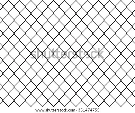 Wire Fence Seamless Texture Black Silhouette Stock Vector 351474755 ...