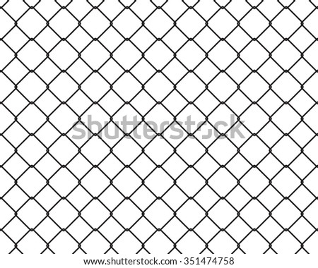 Wire Fence Seamless Texture Black Silhouette Stock Vector ...