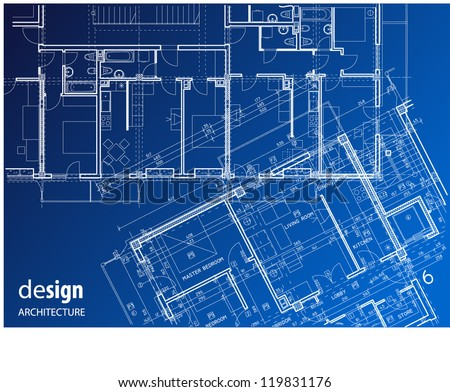 Wire frame architectural detail layout - stock vector