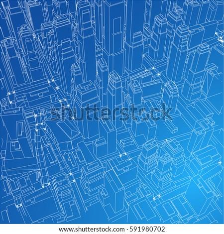 Architecture Design Background urban blueprint vector architectural background stock vector