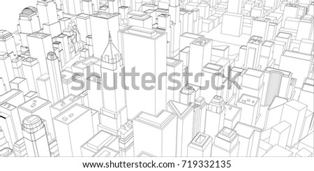 Wireframe new york city blueprint style stock vector 719332135 wire frame new york city blueprint style 3d rendering vector illustration architecture malvernweather Image collections