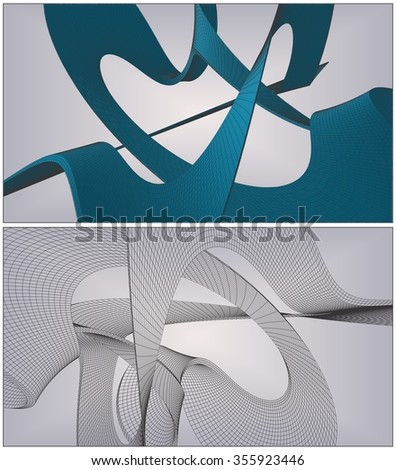 Wire Frame Surface Background Vector 93 - stock vector