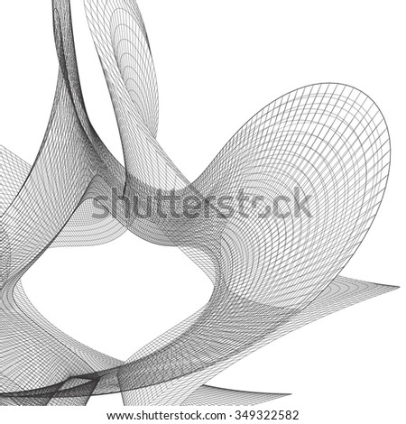 Wire frame Surface Vector Background  - stock vector
