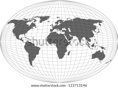 Wire globe map vector.EPS10