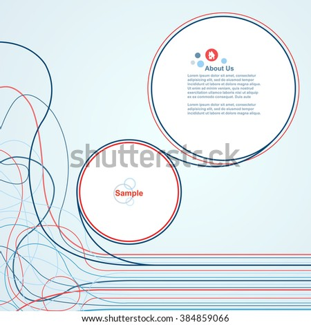 Wire line waves with speech bubbles vector design - stock vector