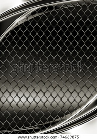 Wire mesh, black background 10eps - stock vector