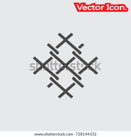 Wire Mesh Icon Isolated Sign Symbol Stock Vector HD (Royalty Free ...
