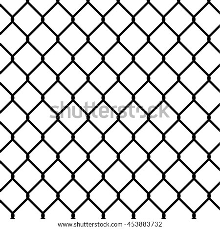 wired fence, silhouette illustration. - Stock vector - stock vector