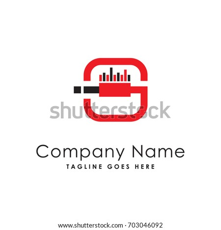 Wired Logo Template Stock Vector HD (Royalty Free) 703046092 ...