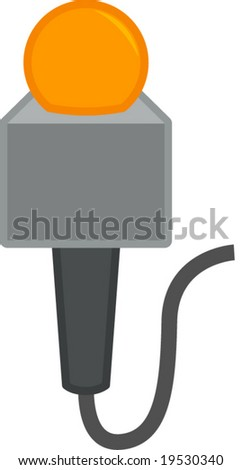 wired microphone - stock vector