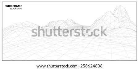 Wireframe background for graphic design.EPS10 Vector  - stock vector