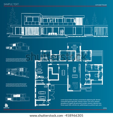 Wireframe blueprint drawing 3 d building house stock photo photo wireframe blueprint drawing of 3d building house vector architectural template background malvernweather Gallery