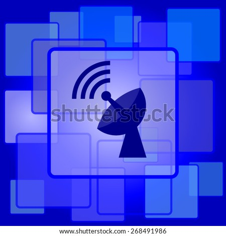Wireless antenna icon. Internet button on abstract background.  - stock vector