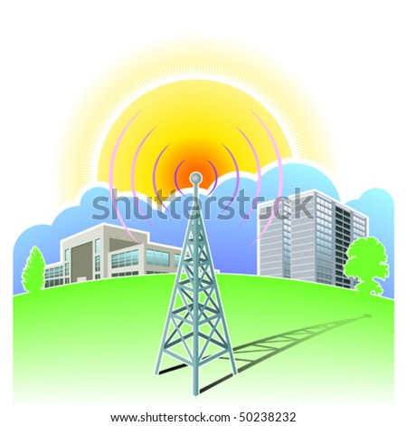 wireless communications - stock vector