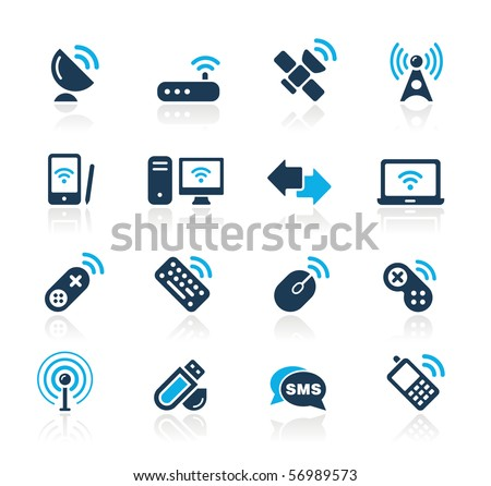 Wireless & Communications // Azure Series - stock vector