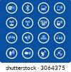 Wireless communications iconset - stock vector