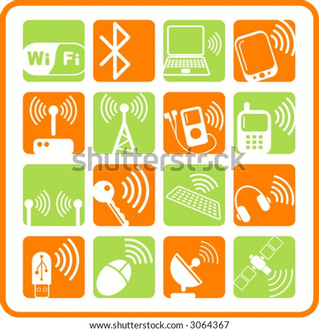 Wireless communications iconset