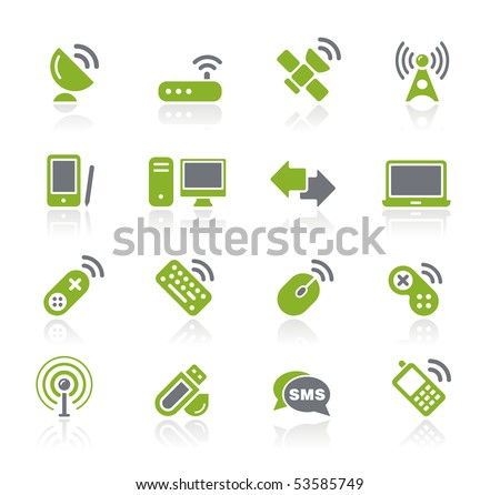 Wireless & Communications // Natura Series - stock vector