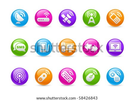 Wireless & Communications // Rainbow Series - stock vector
