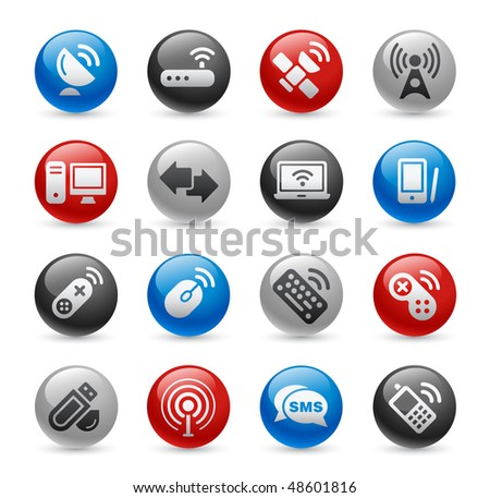 Wireless & Communications Web Icons // Gel Pro Series - stock vector