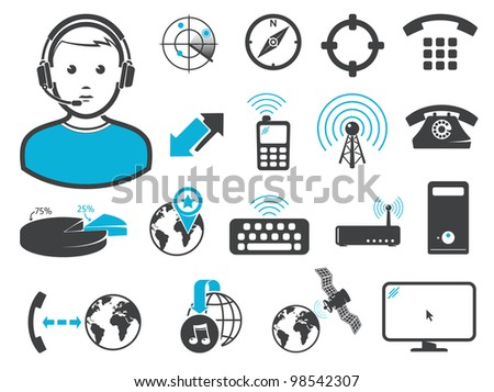 Wireless connection technologies - stock vector