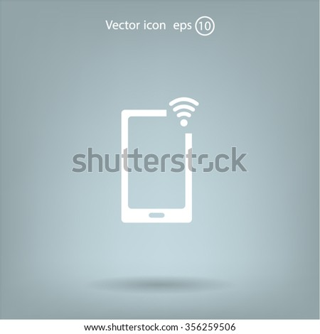 Wireless connectivity icon. Setting wifi connection. - stock vector