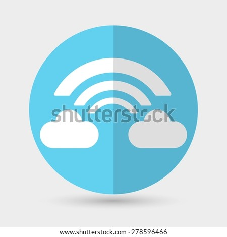 Wireless Icon - stock vector