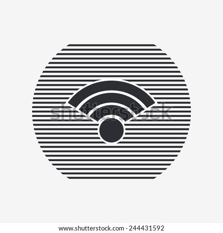 Wireless Network Icon. Flat design style. Made vector illustration